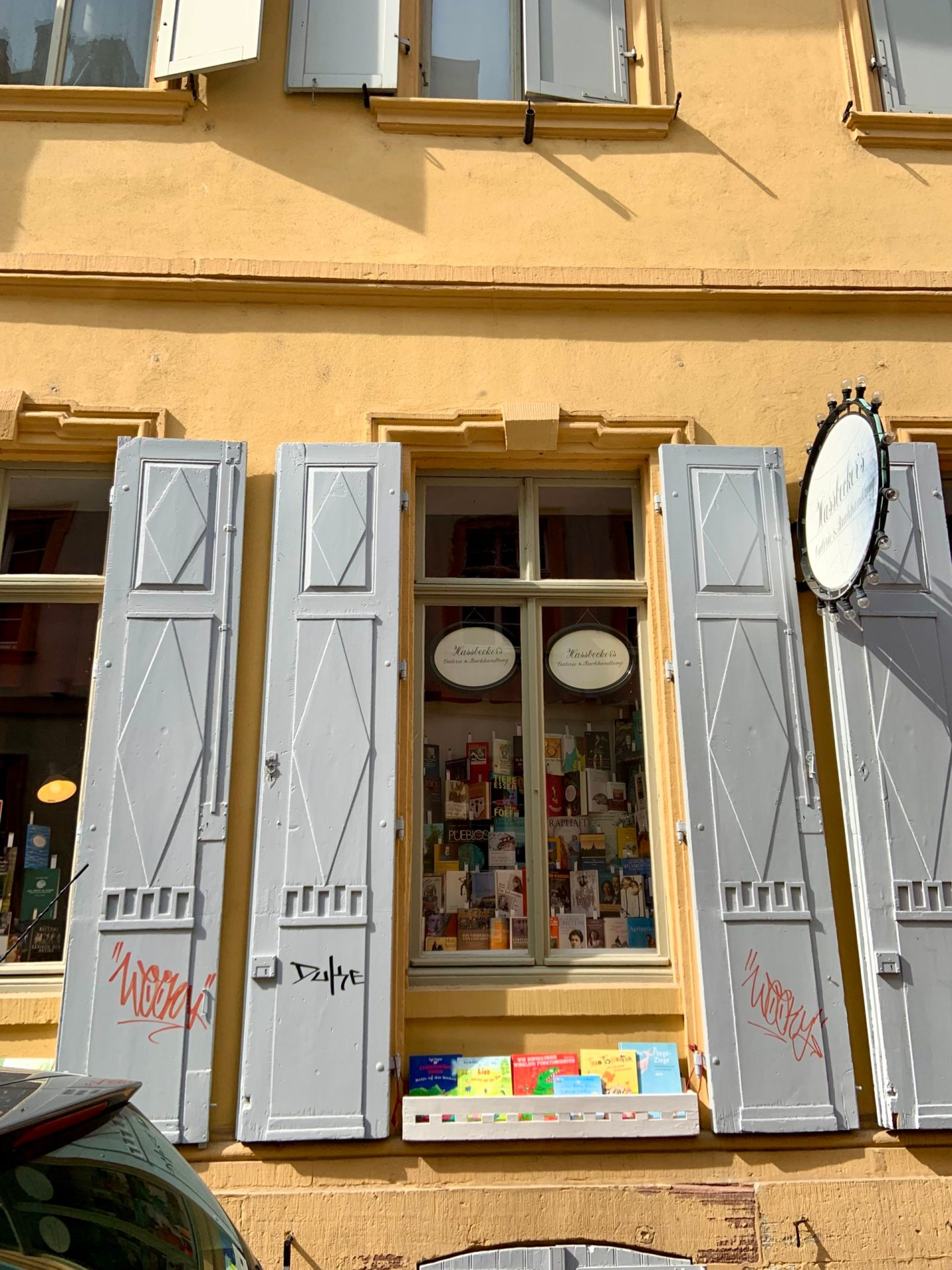 Cute bookshop in Heidelberg