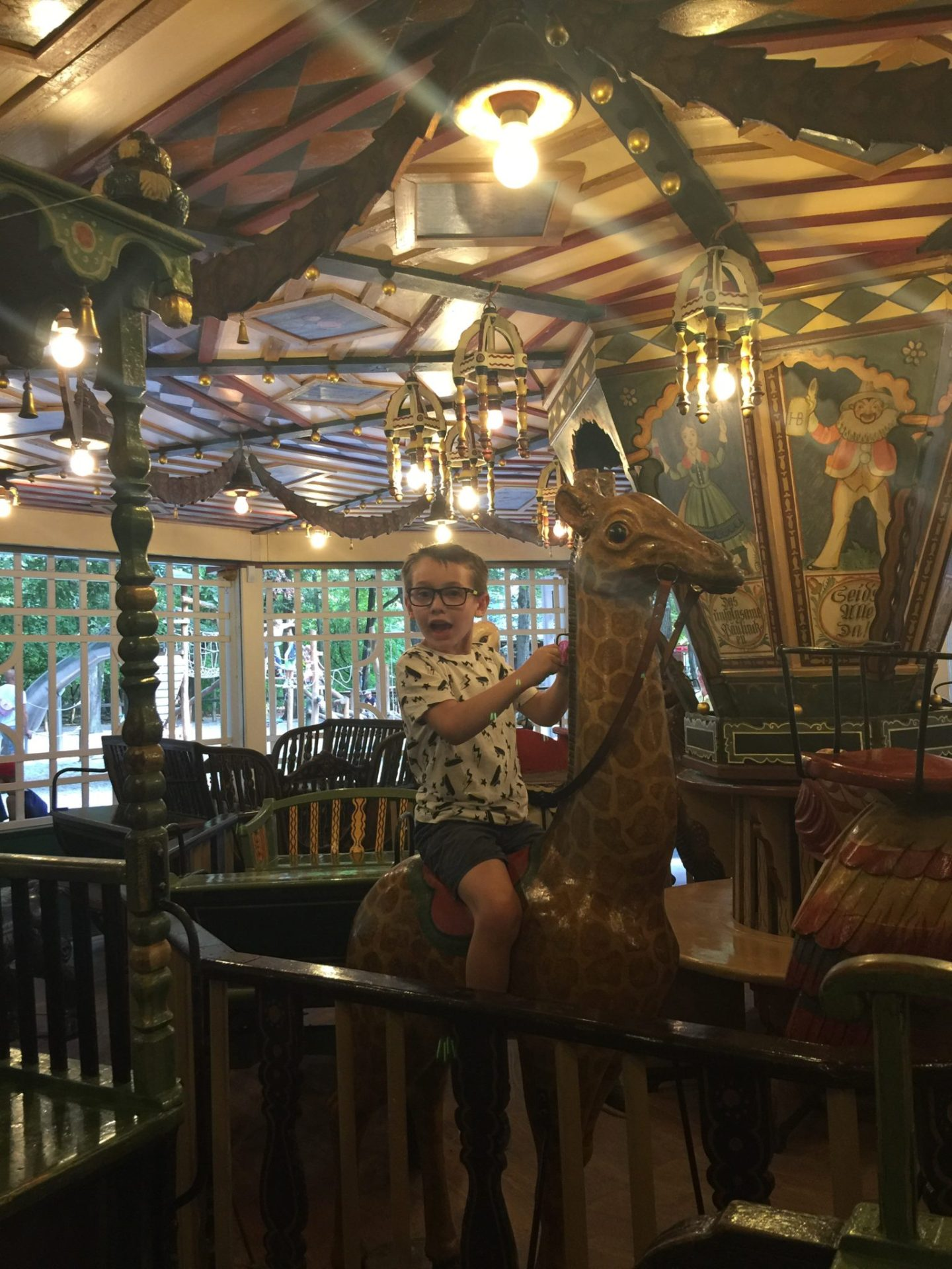 Carousel in Englisch Garten, by the Chinese Tower