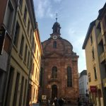 Beautiful street in Heidelberg, Germany