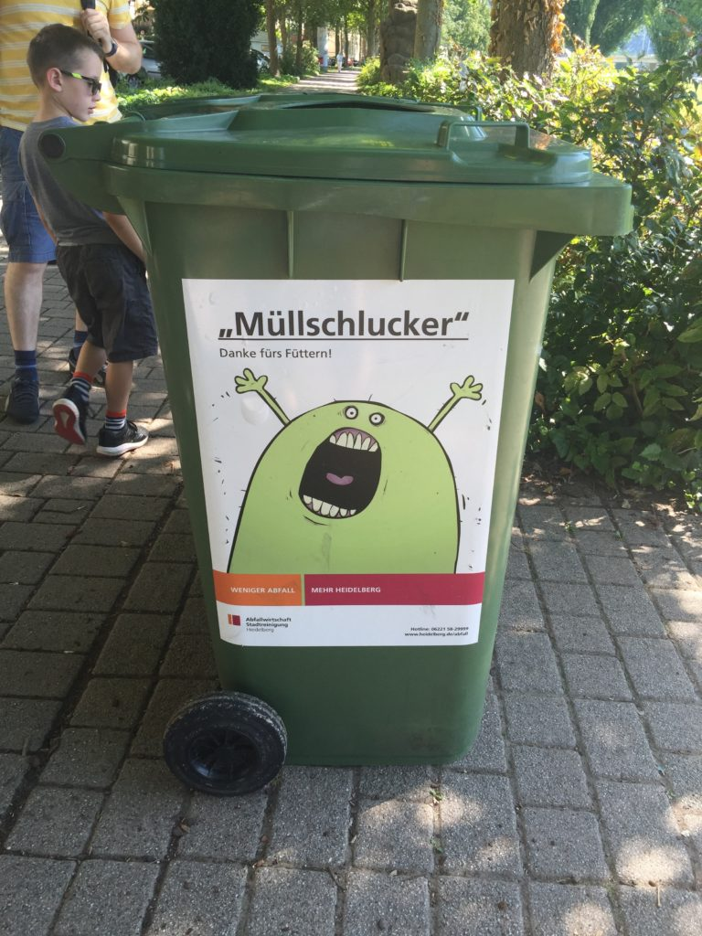 German public rubbish bin