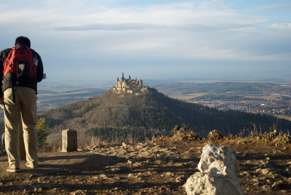 Taking photos of Burg Hohenzollern