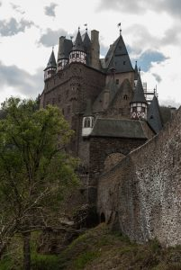 Burg Eltz from down below on one of the path.