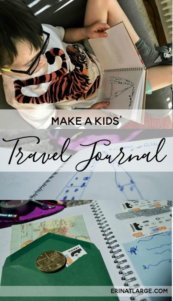 Kids Travel Journal DIY PIN text