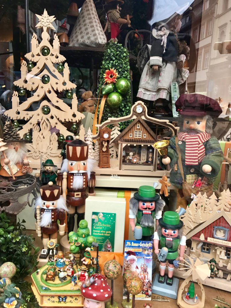 Beautiful wooden German Christmas decorations