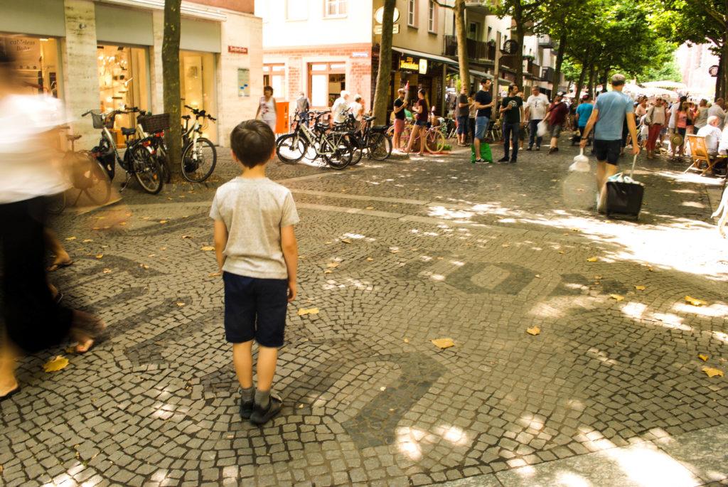 Pedestrianized streets of Mainz