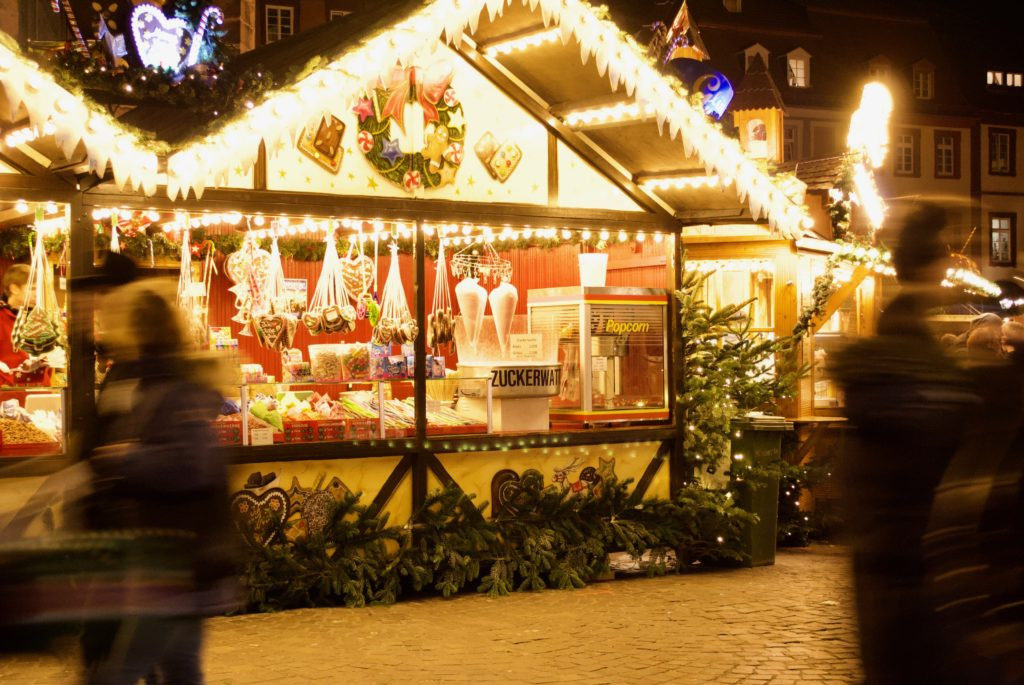 Who could resist this candy stall at a magical German Christmas market?