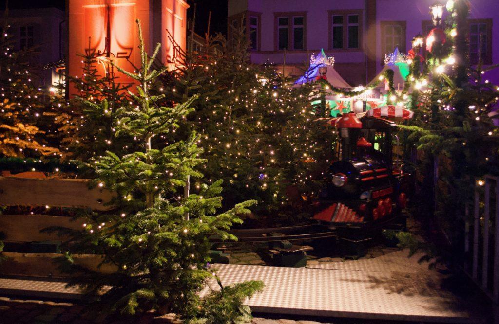 Mini train at the Heidelberger Christmas Market