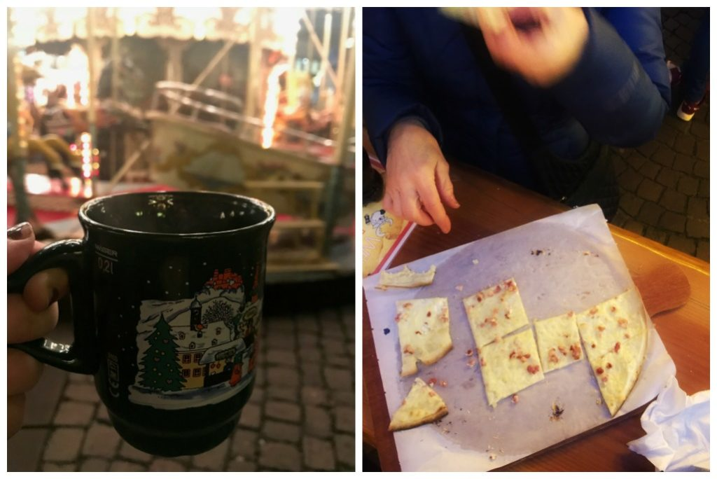 Glühwein and Flammkuchen are our favourite foods at the Christmas Market
