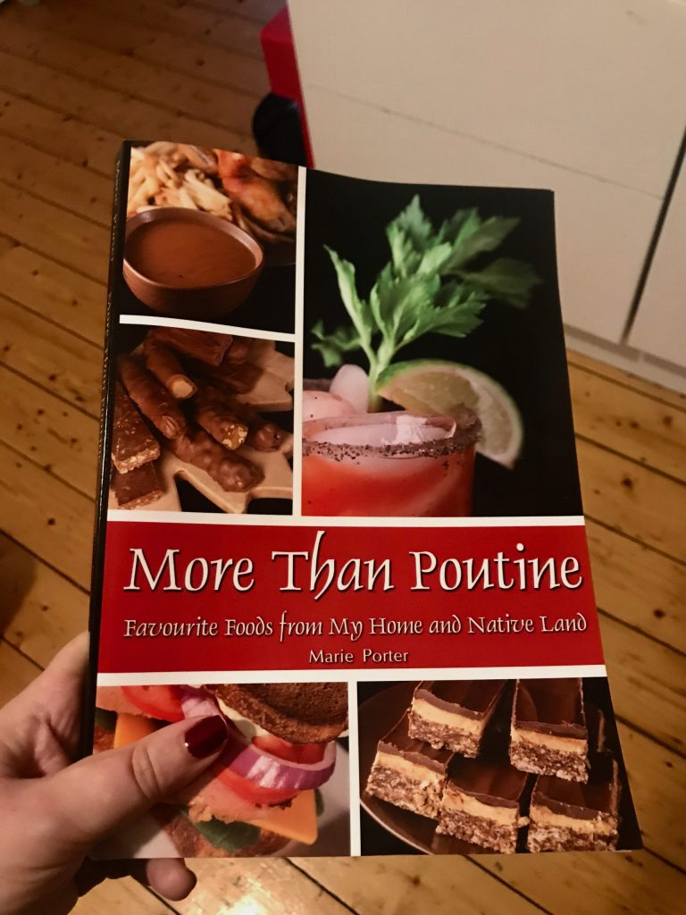 Marie Porter's cookbook for Canadians abroad, looking to recreate some favourites.