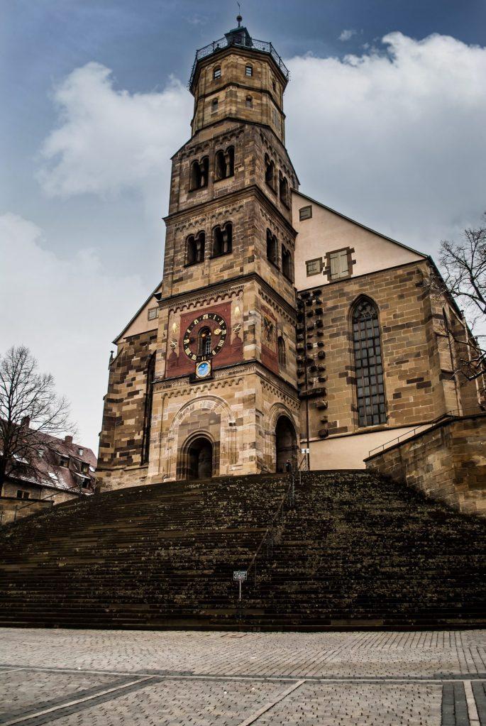 Schwäbisch Hall church and steps