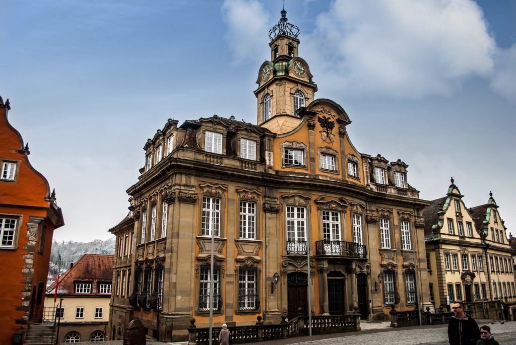 The 'new' City Hall, which replaces an old half-timbred one destroyed by fire sometime in the 17th century.
