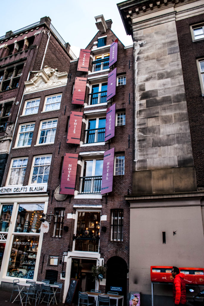 A very skinny hotel in Amsterdam.