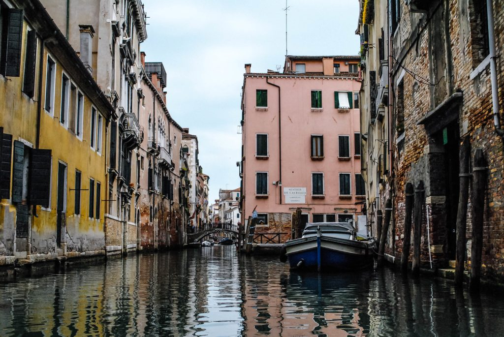 The canals in Venice, as lovely and dilapidated as you imagine.
