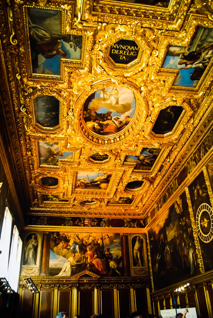 The fantastic Baroque interiors of the Doge's Palace.
