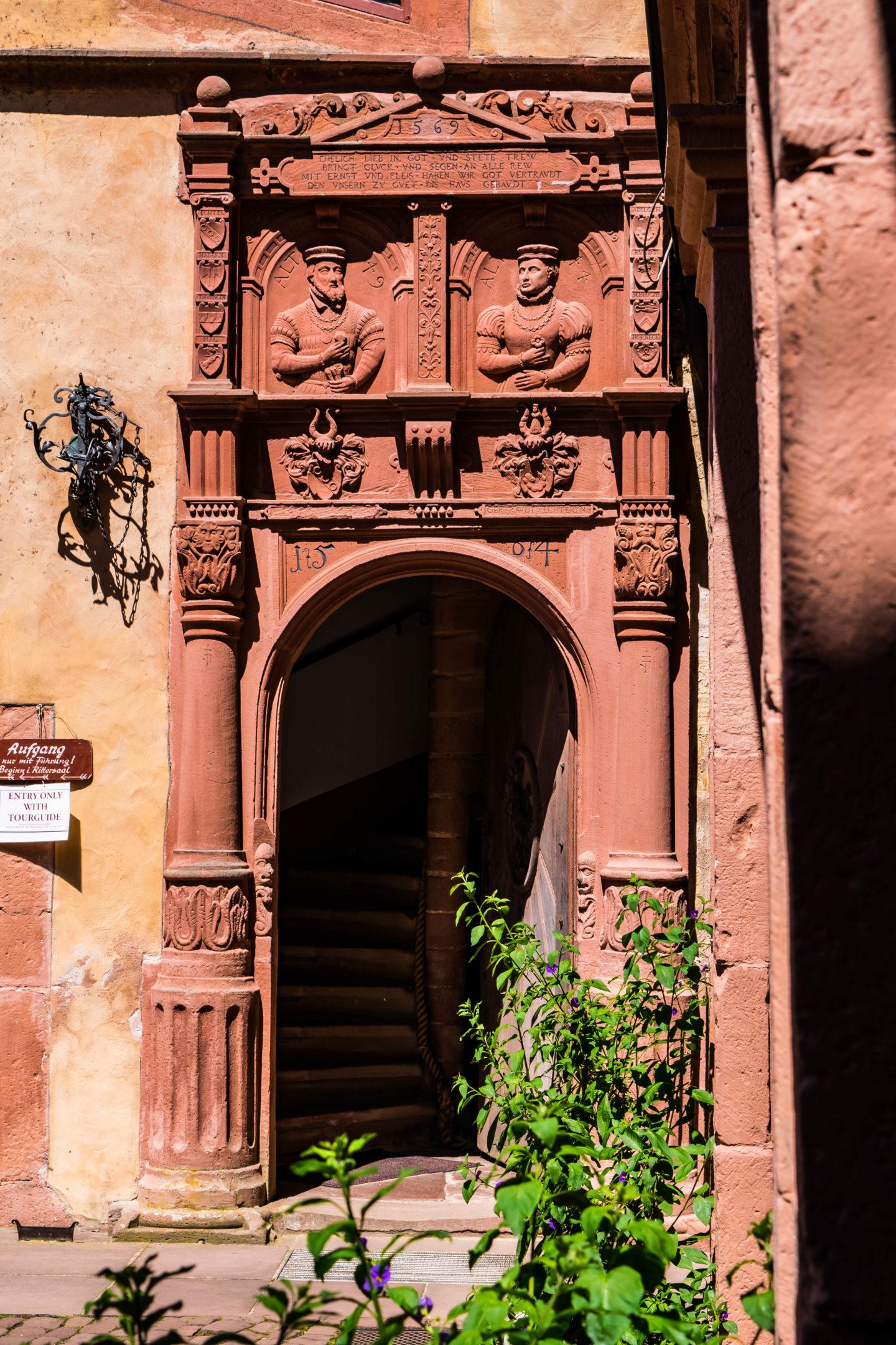 Door to upper levels of the castle, dated 1569.