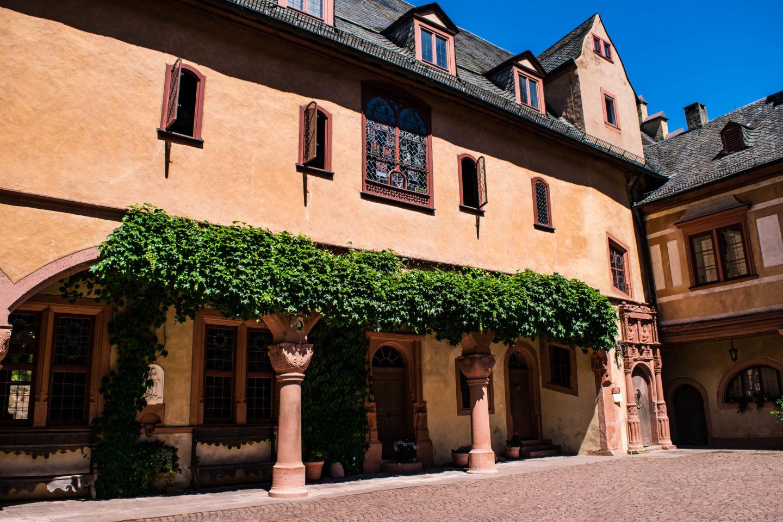 Inner courtyard at Castle Mespelbrunn