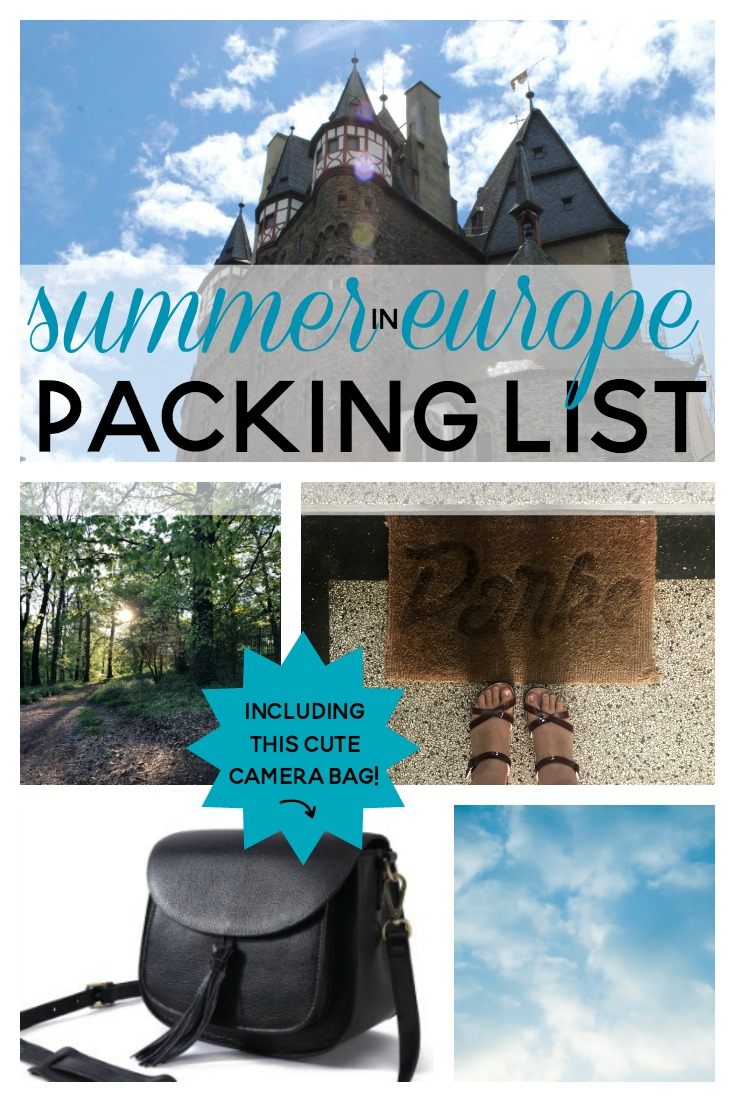 summer in europe packing list PIN
