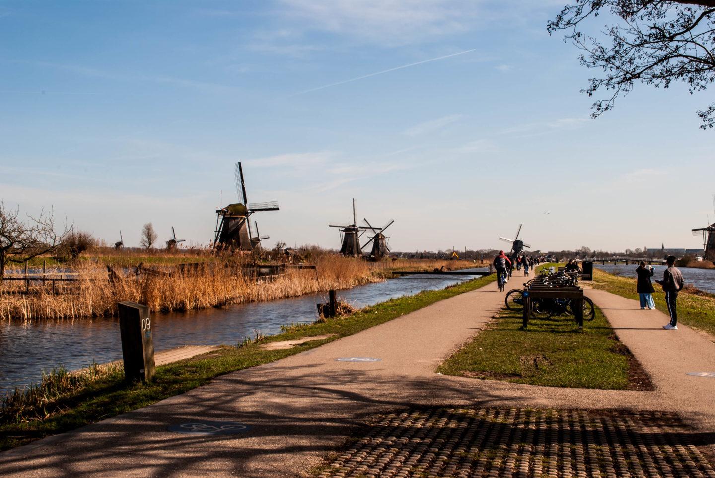 A view down the Kinderdijk