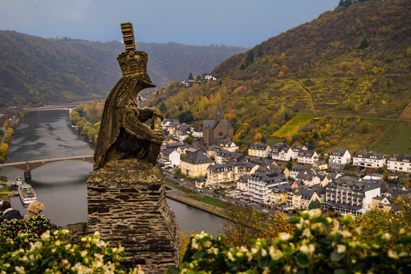 View from outside the Cochem Castle