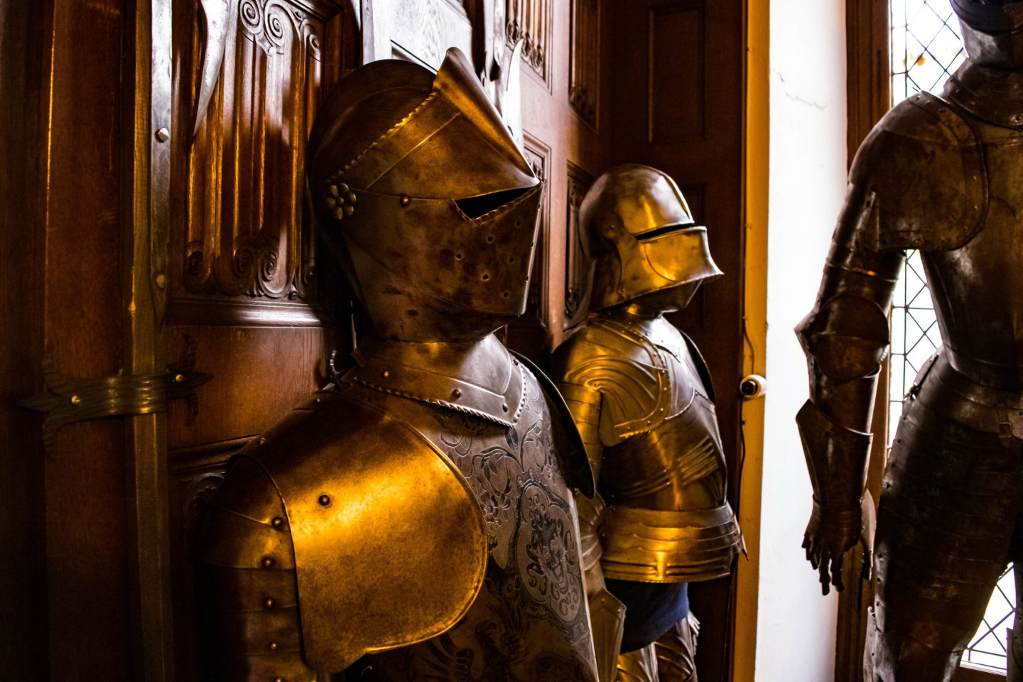 Suits of armour are everywhere