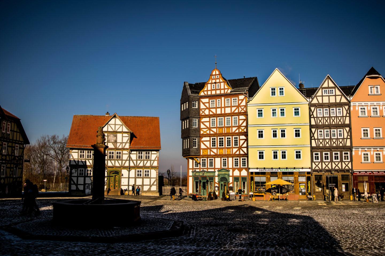 Market square at the Hessen Park