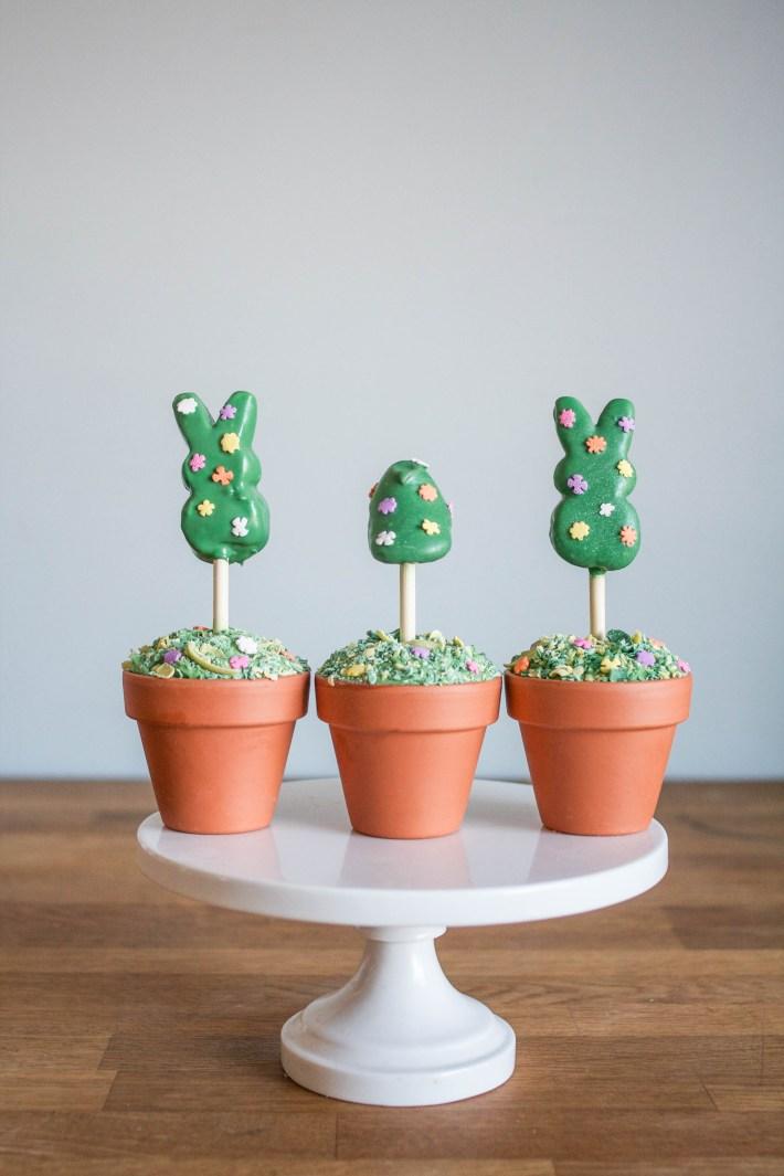 Peeps Topiary Cupcakes | Erin Bakes