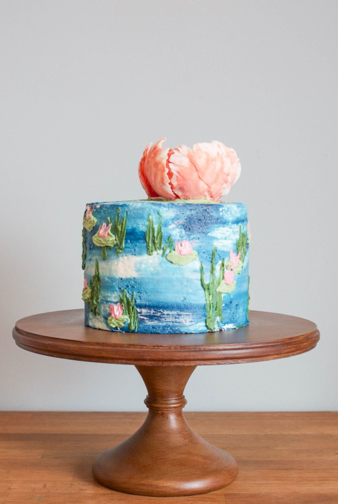 How To Make A Surprisingly Easy Watercolor Buttercream Cake On Craftsy