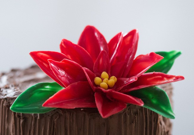 Chocolate Flower Tutorials | Chocolate Poinsettia | Erin Gardner