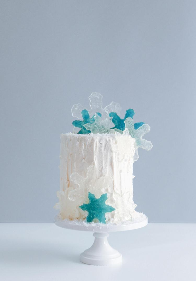 Candy Snow Flakes on The Cake Blog   Erin Gardner