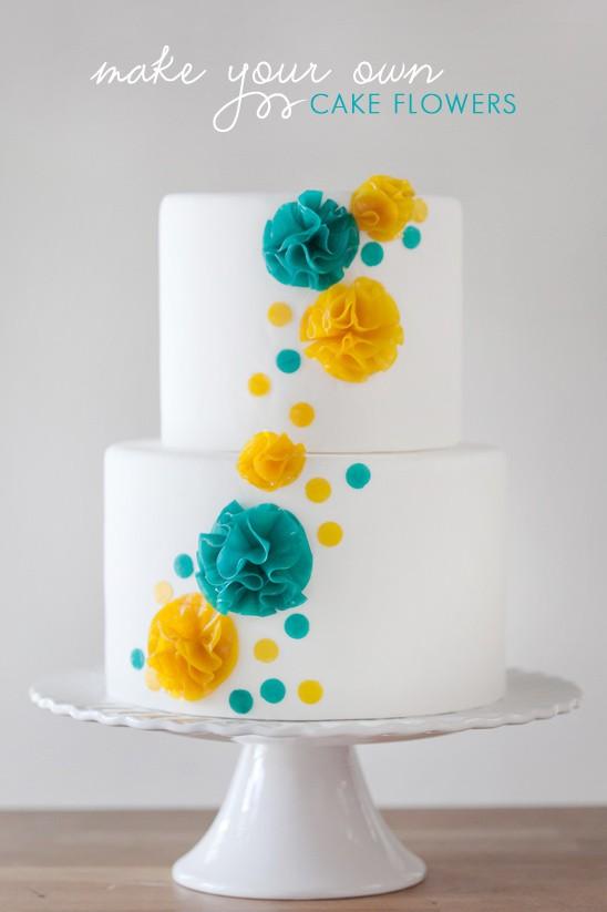 How to Make Your Own Fruit Roll-Up Cake Flowers | Erin Gardner | Erin Bakes