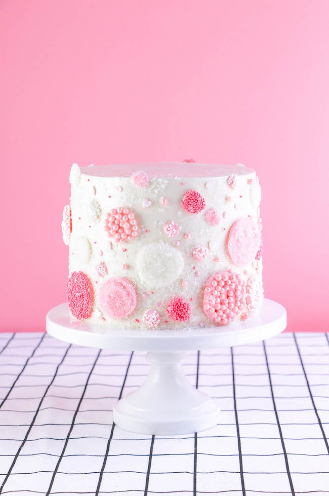 Raspberry Rosé Cake Recipe | Erin Gardner | Erin Bakes
