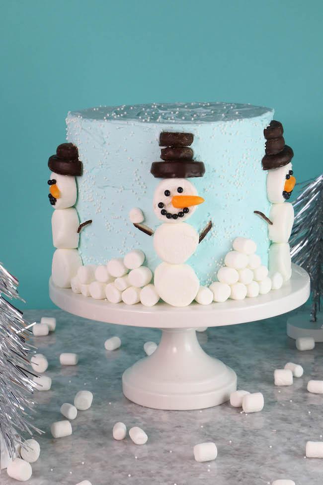 Marshmallow Snowman Cake | Erin Gardner | Erin Bakes
