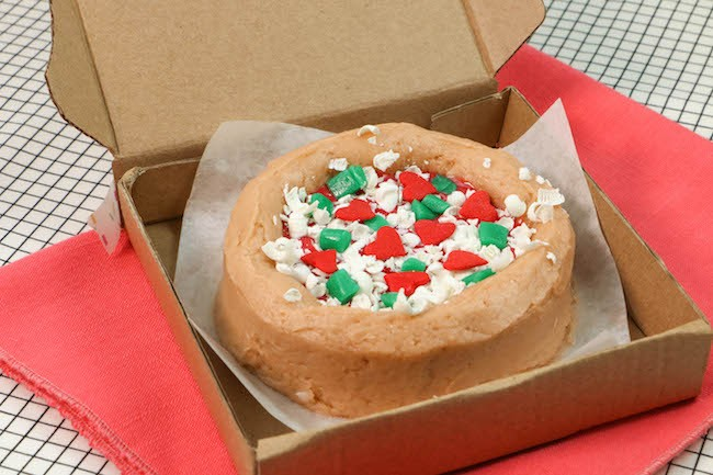 Mini Pizza Cake Topped with Candy, Shredded White Chocolate, and Sprinkles   Erin Gardner   Erin Bakes