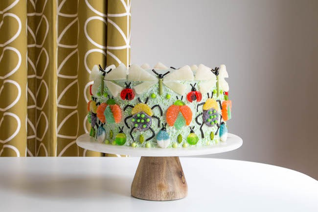 Gummy Bug Cake by Erin Gardner for Erin Bakes