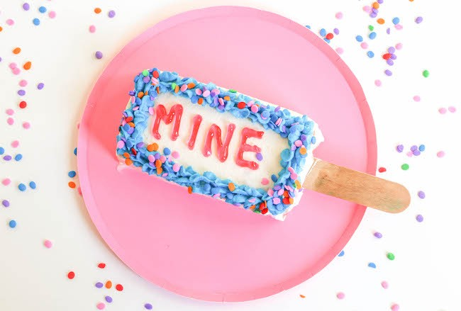 Ice Cream Cake Popsicle with Writing | Erin Bakes