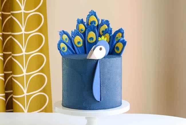 Chocolate Peacock Feather Cake | Erin Gardner | ErinBakes