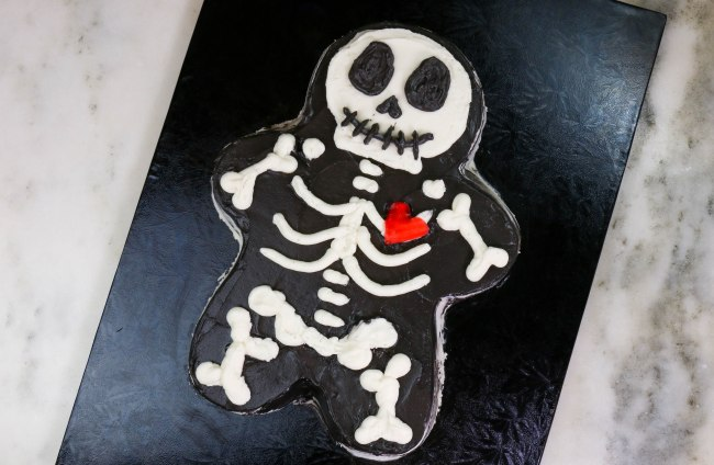 Simple Skeleton Cake by Erin Gardner | Erin Bakes