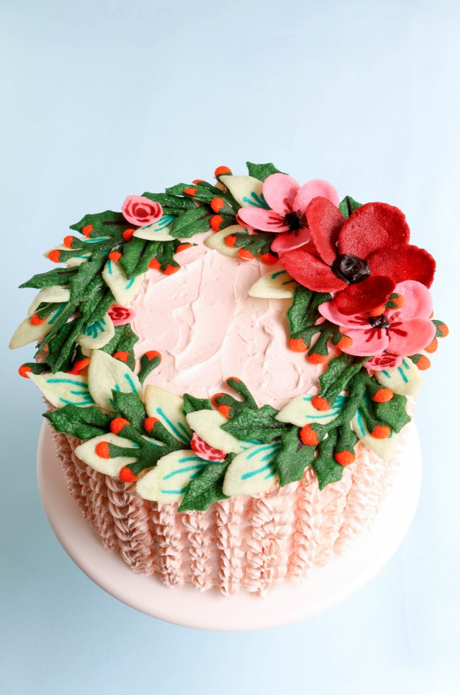 My Tuile Wreath Cake from American Cake Decorating Magazine. | Erin Gardner