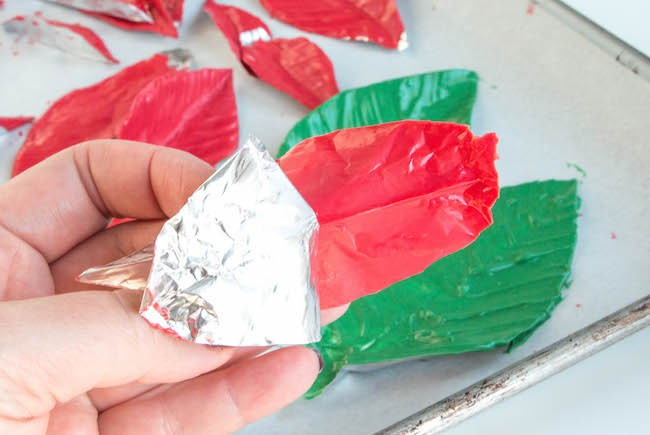 Peeling the Foil off the Chocolate Leaves | Erin Bakes