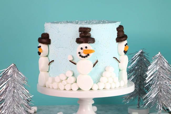 Easy Marshmallow Snowmen | Erin Gardner | Erin Bakes