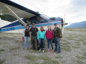 Landing near Knik Glacier with my family.
