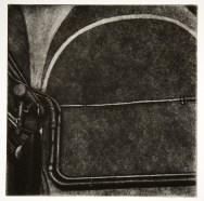 "Boiler Room III, intaglio, 6"" x 6"", 2008."