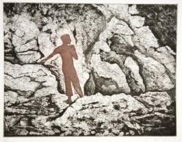 """Silhouette II, intaglio, 8.5"""" x 7"""", 2008."""