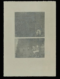"Untitled, intaglio print, 7"" x 10"", 2010."