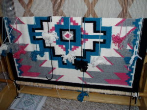 Navajo tapestry in progress