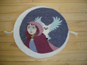 lady winter tapestry