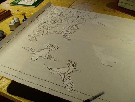 sketching the hummingbirds