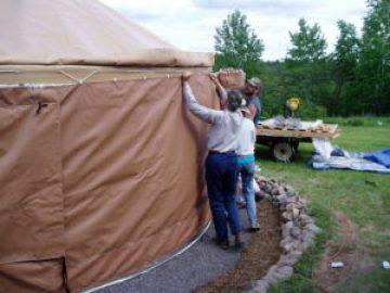 installing sidewalls