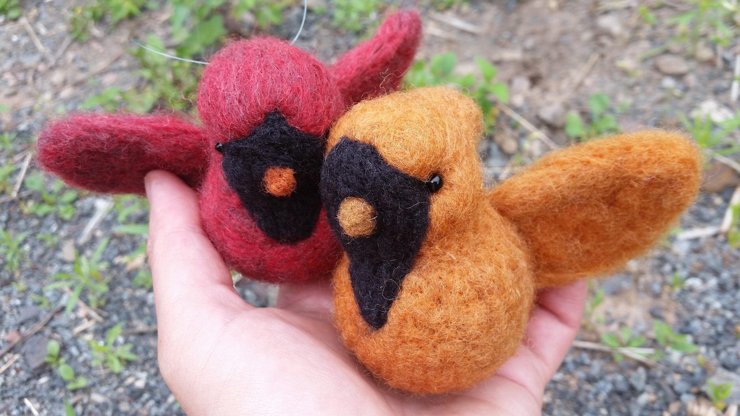 felted cardinals