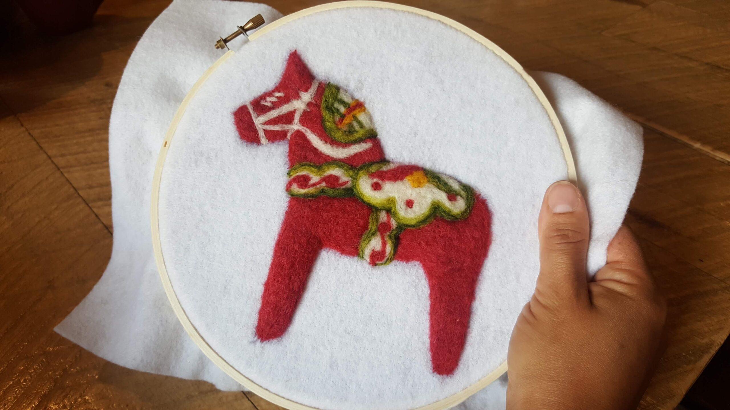 felted Dala horse